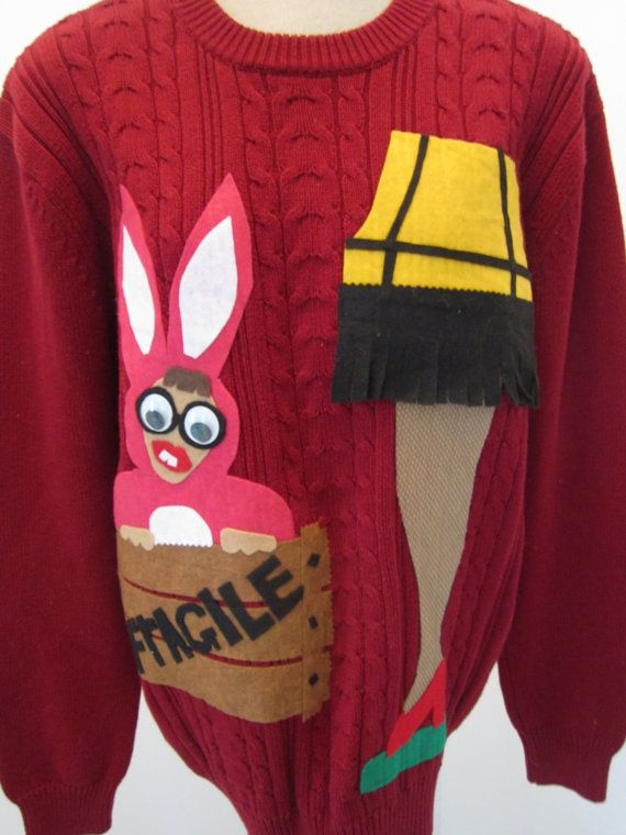 Amazing Leg Lamp Sweater Ugly Christmas Sweater Party Hilarious Christmas Story  Themed Repurposed Sweater August Sale