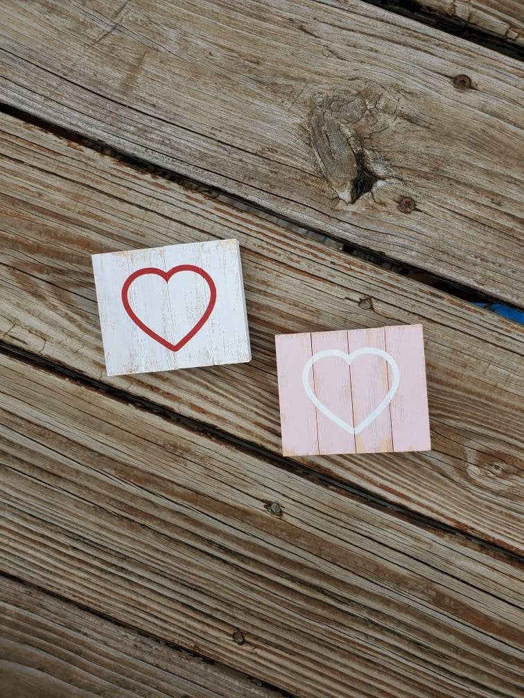 Heart Sign, Valentine's Decor, Valentine's Gift, Love Sign, Small Wood Sign, Heart Decor, Coffee Bar Sign, Coffee Bar Decor, Mantle Sign