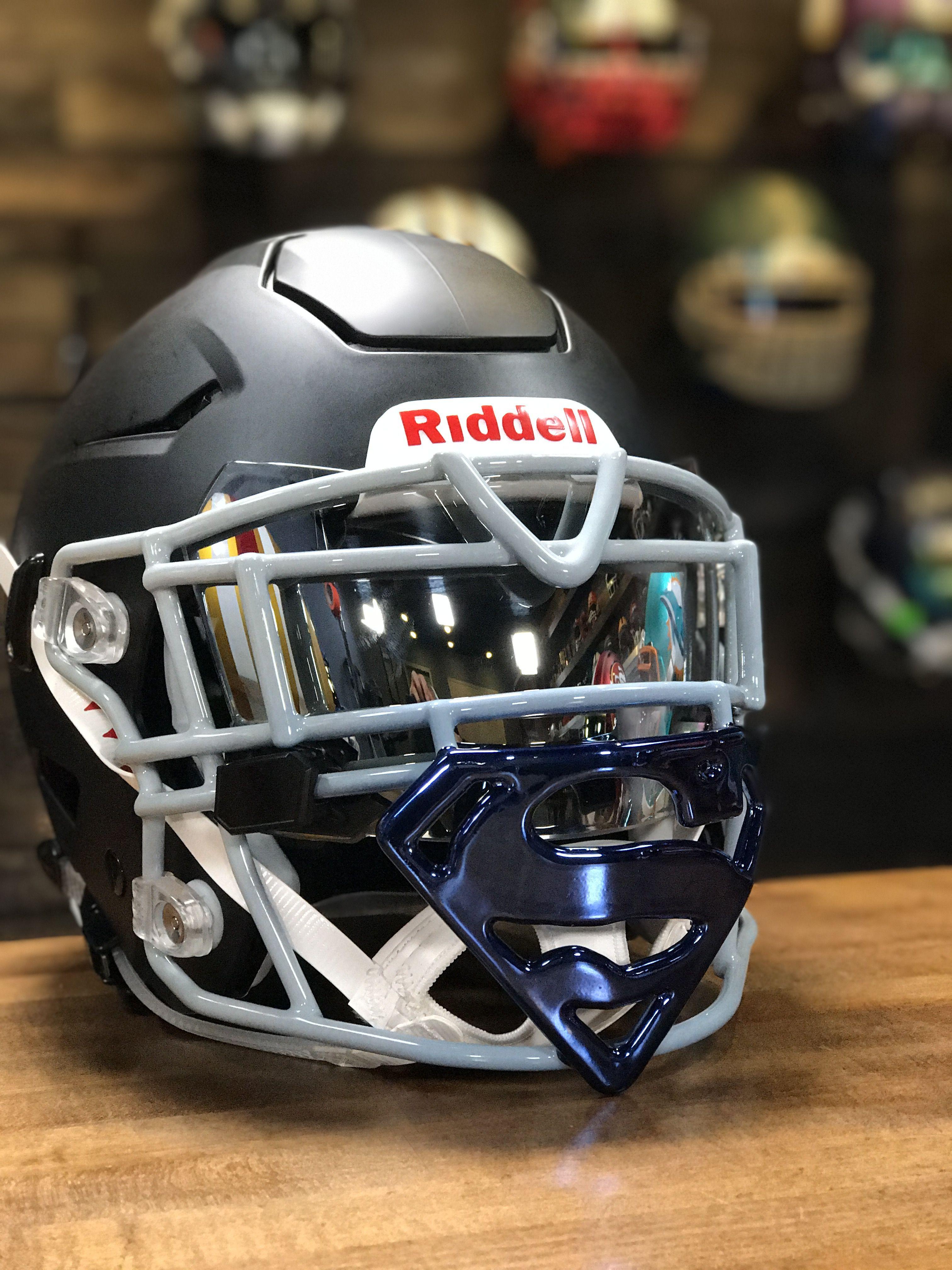 74c0ff64 Superman Facemask Cool Football Helmets, Hockey Helmet, Sports Helmet,  Football Stuff, Custom