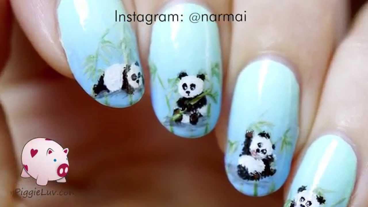 Panda babies nail art tutorial