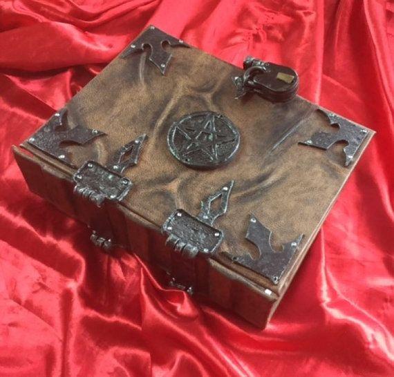 SALE 'Celeste' Leather Pentagram Spell book by