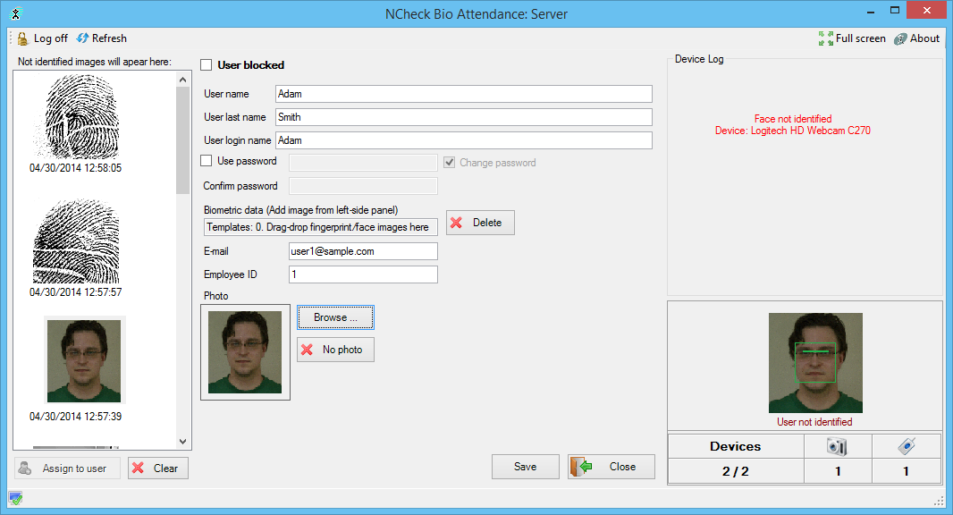 NCheck Bio Attendance Trial for Windows 2.1 screenshot