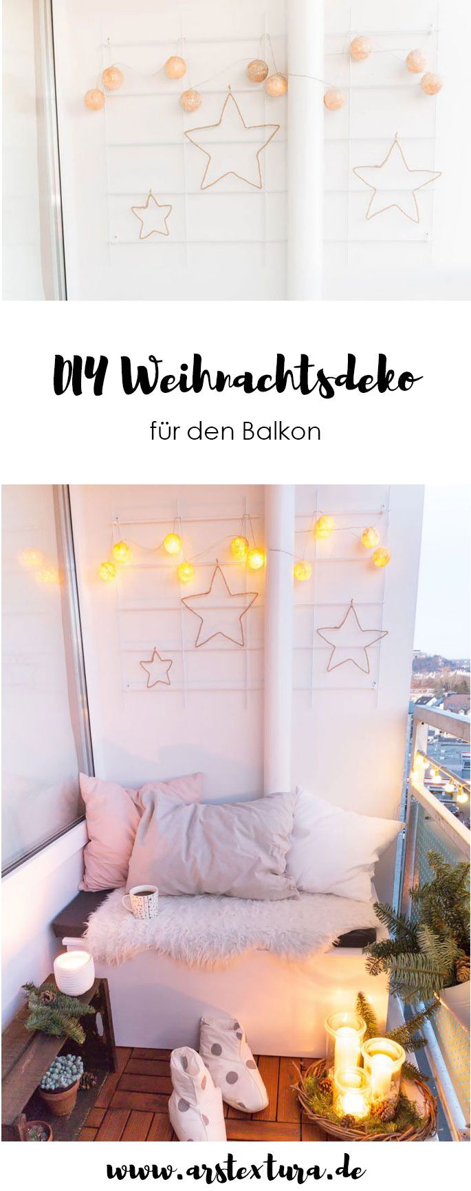 5 weihnachtsdeko f r den balkon weihnachten geschenkideen deko rezepte pinterest. Black Bedroom Furniture Sets. Home Design Ideas