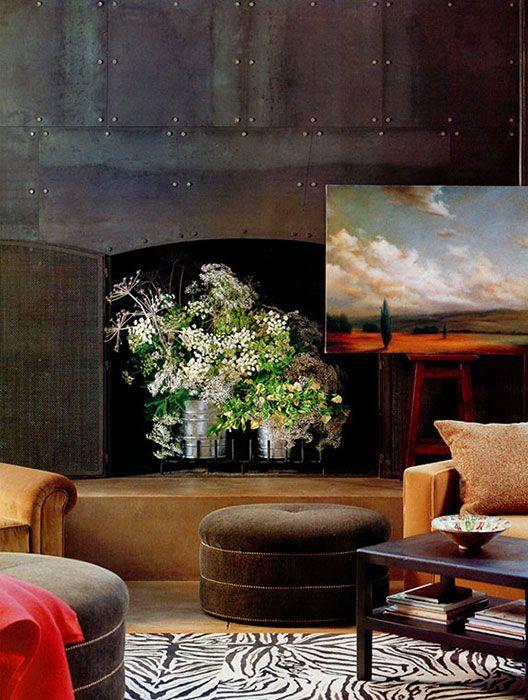 alternative use for fireplace inspiration 2 rural Pinterest