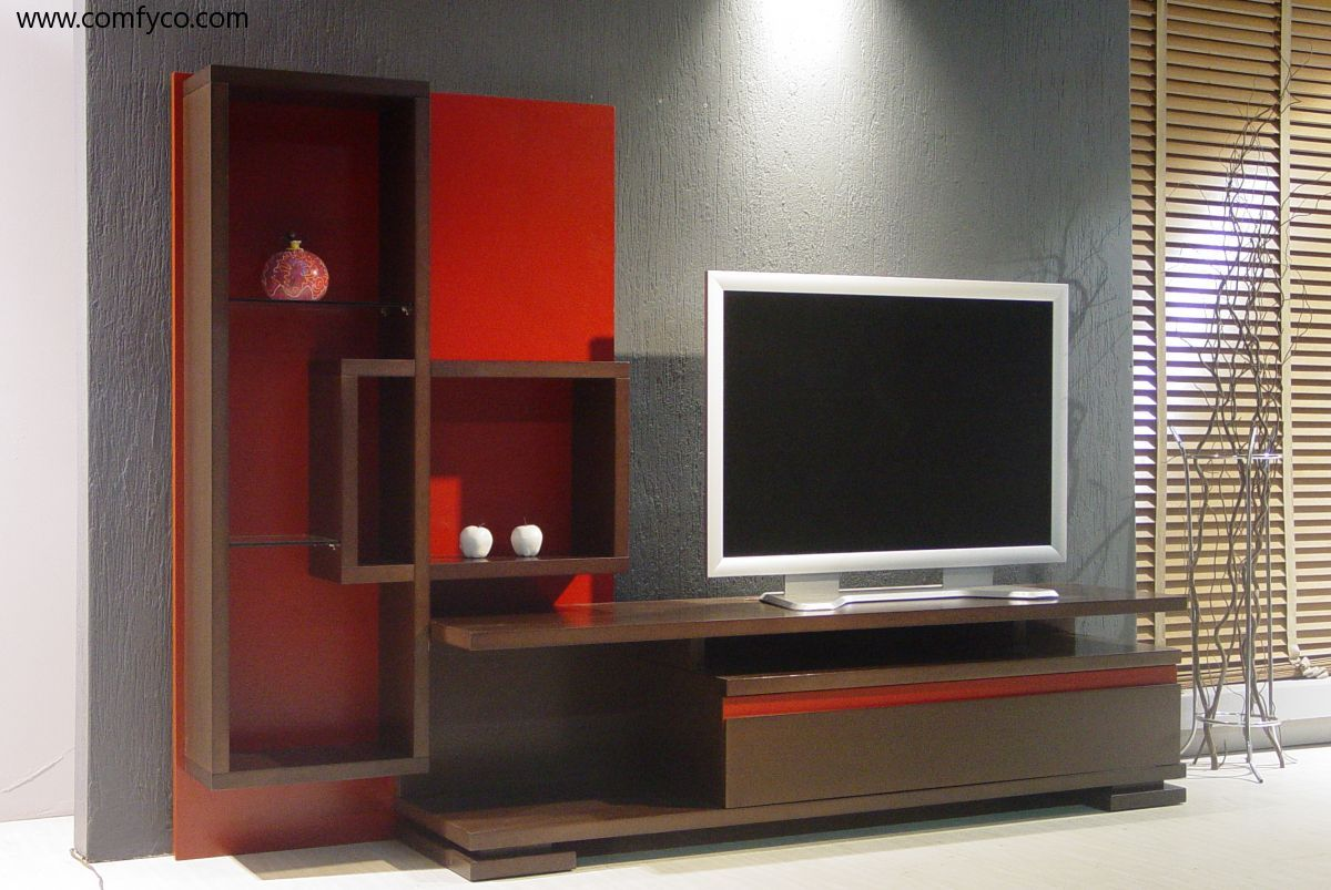 Wall Units Design wall unit by hartmann cubo modern wall units in solid wood design Top Design Modern Tvstand Wall Unit By Herval Usa Wallunits