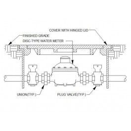 Water meter Installation detail | Mechanical CAD blocks | Water, Cad
