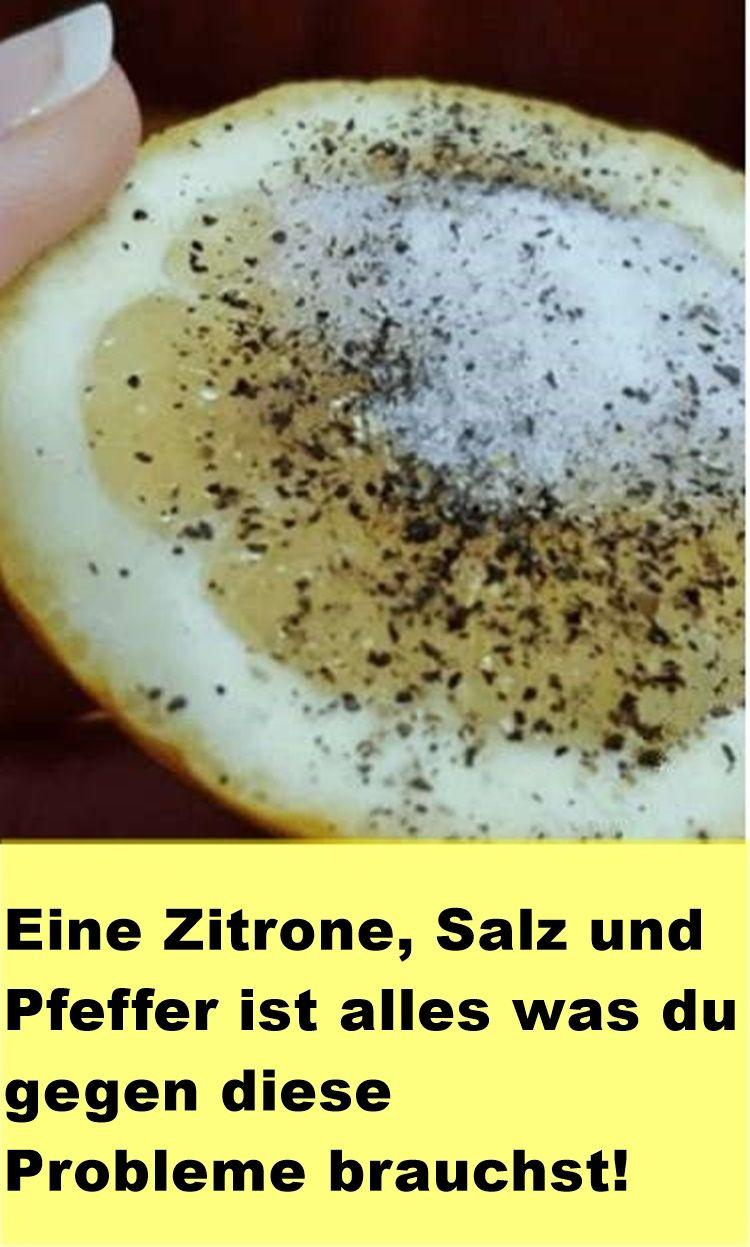 Zitrone mit Salz zur Gewichtsreduktion