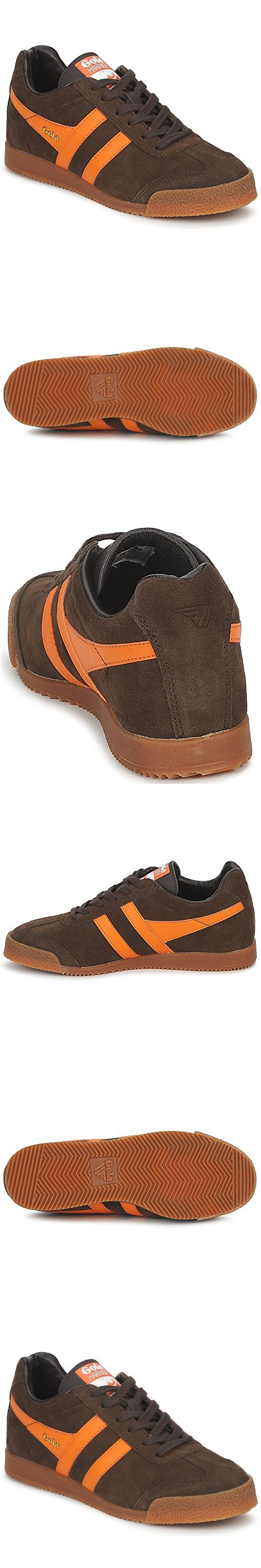 Gola Sport Harrier Premium Suede Brown Womens Trainers Size 6 UK