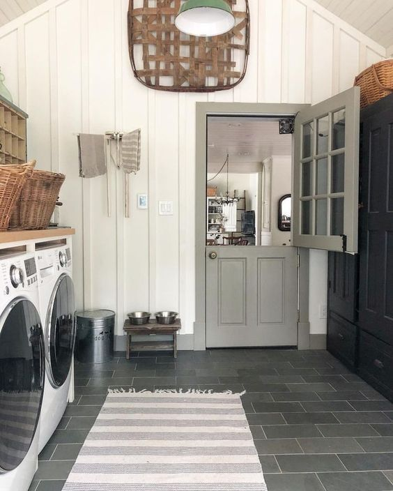 20 Farmhouse Laundry Rooms to Drool Over images