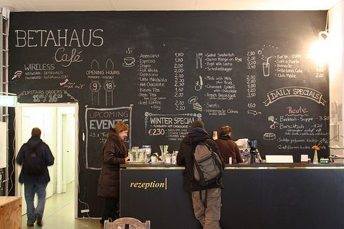 I Ve Redesigned The Menu On The Blackboard Wall Betahaus Tafel