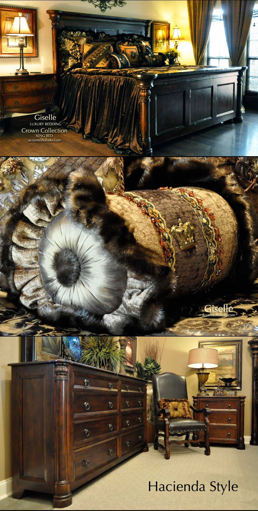 Old World Style Bedroom Furniture Crown Hacienda Bedroom Furniture And Giselle Luxury Bedding At
