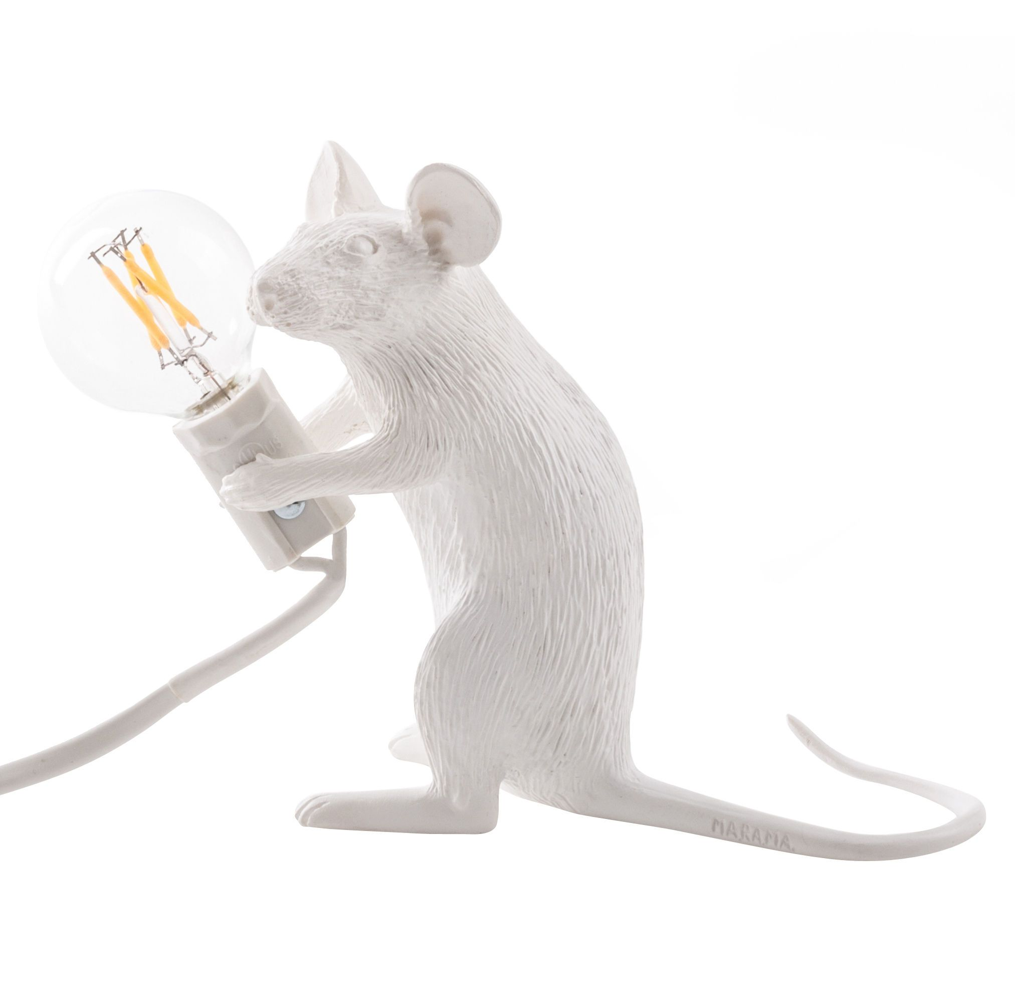 Mouse Standing #1 Table lamp Standing / White by Seletti - Design furniture and decoration with Made in Design