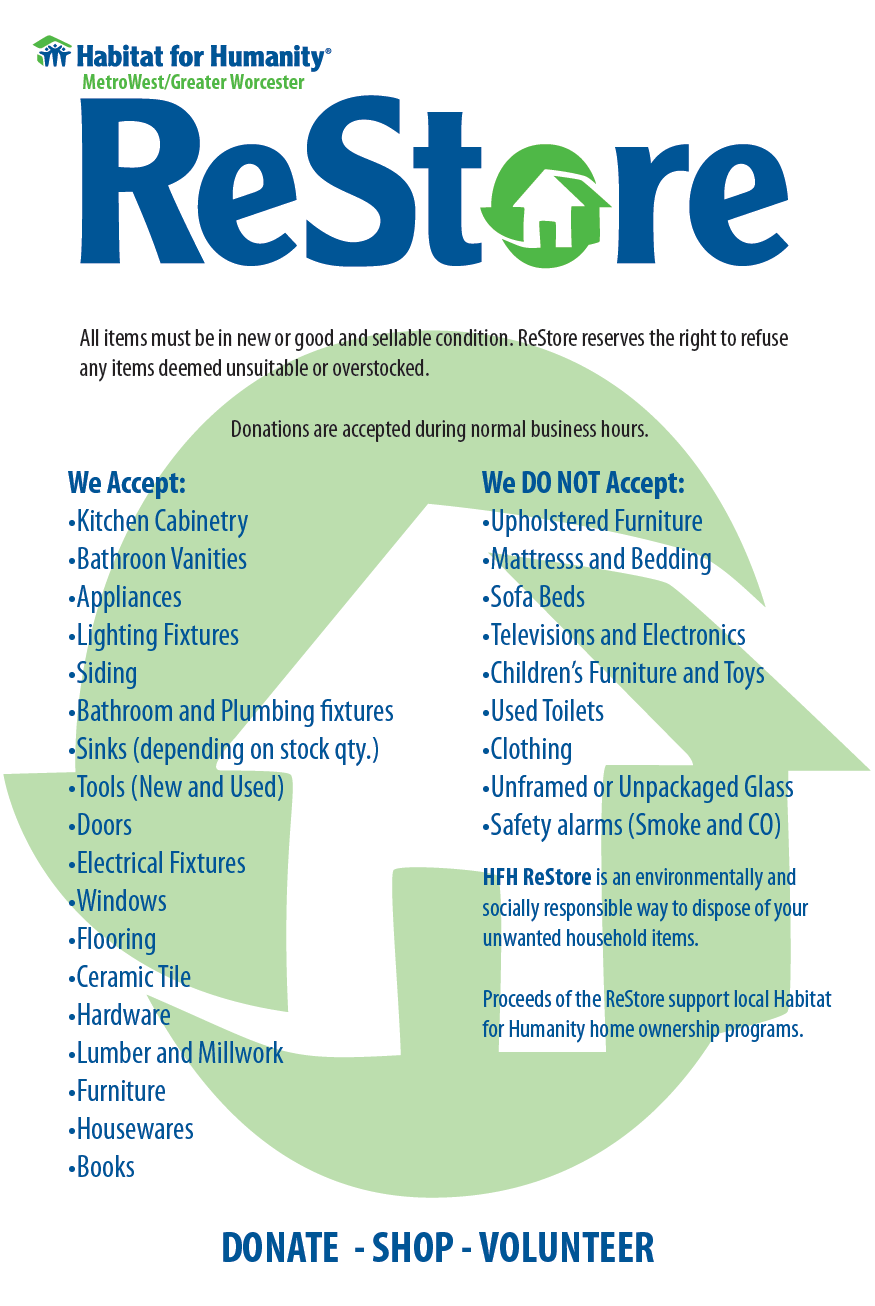 What type of donations items does the ReStore accept ...