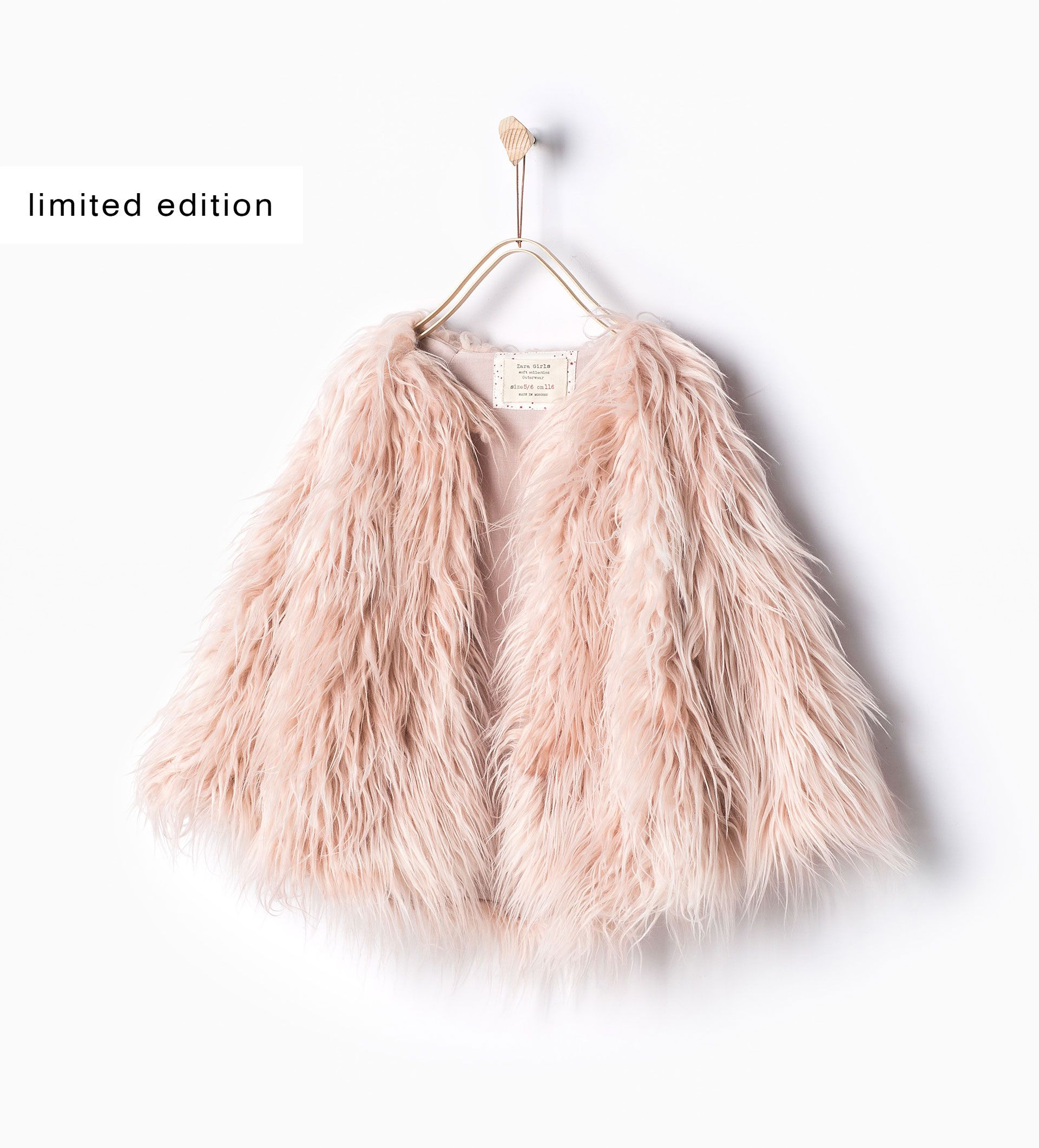 0b42fa00 ZARA - KIDS - Faux fur coat | Fit For Princess Yani<3 | Girls faux ...