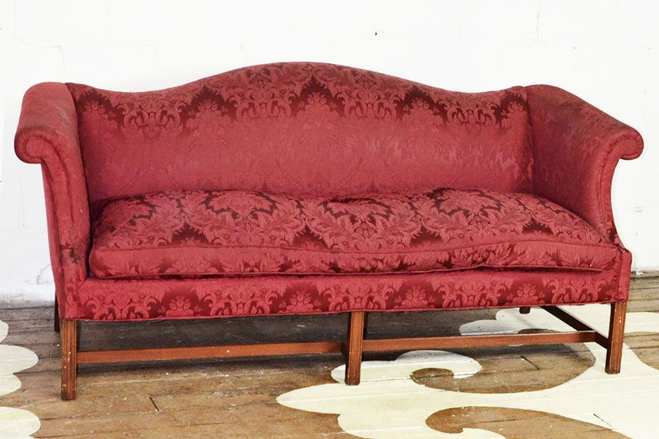Small Scale Vintage Camelback Sofa This Is A Great Size It Is