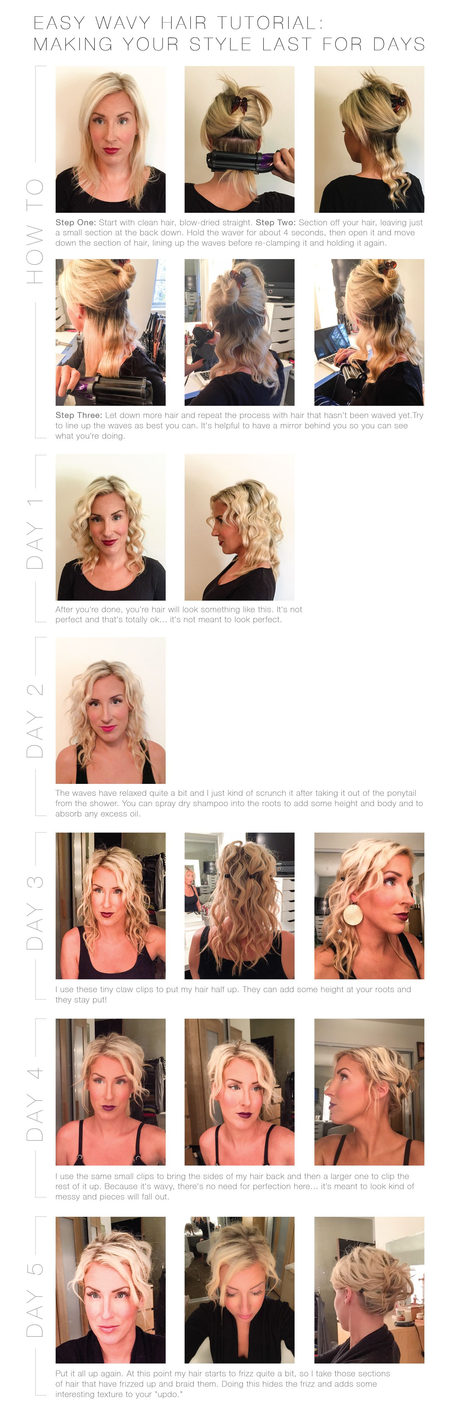Easy Beachy Waves Hair Tutorial And How To Make It Last For DAYS - Edit your hairstyle
