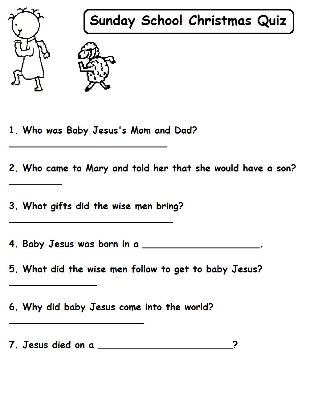Quizzes - Church House Collection Blog Christmas Quizzes For Sunday School