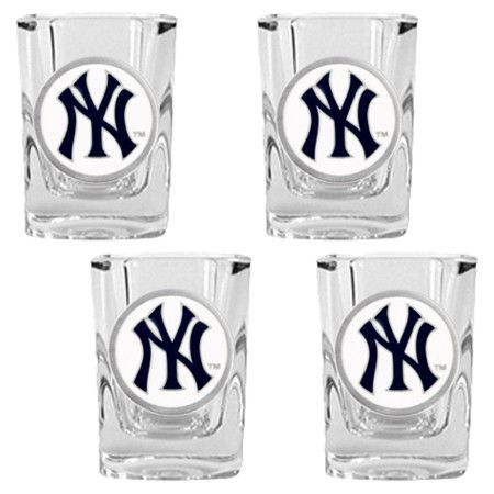 MLB Square Shot Glass (Set of 4)  by Great American Products