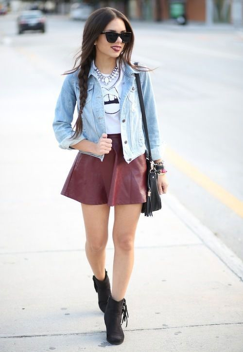 7ec92ad575 20 Style Tips On How To Wear Skater Skirts