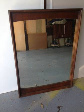 Mid Century Modern Mirror (a good contrast to your traditional table)
