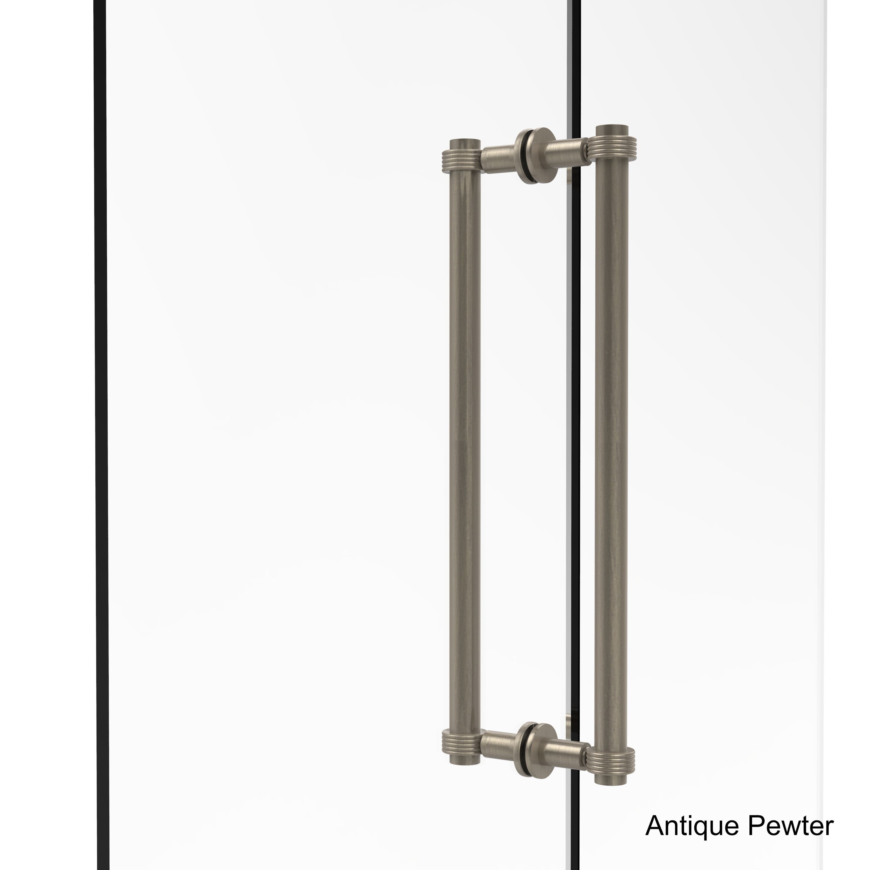Allied brass contemporary inch backtoback shower door pull with