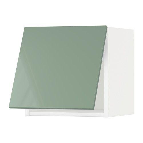 Ikea Wandschrank Horizontal.Metod Wandschrank Horizontal Weiß Kallarp Hellgrün Ikea