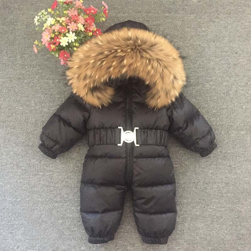 fb8df1a1516a Mioigee Baby Jumpsuits Boys Winter Overalls Baby Girls Rompers Duck ...
