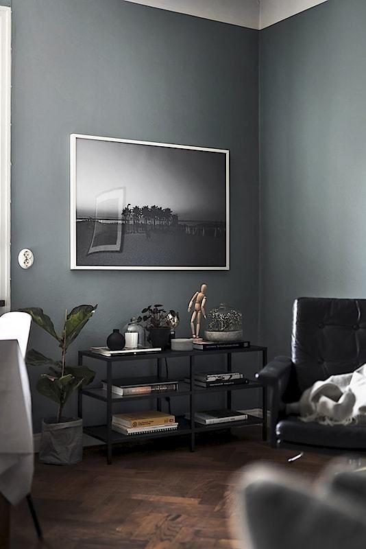 Piso n rdico de 44 m en gris oscuro decoracion cocinas for Decoracion piso oscuro