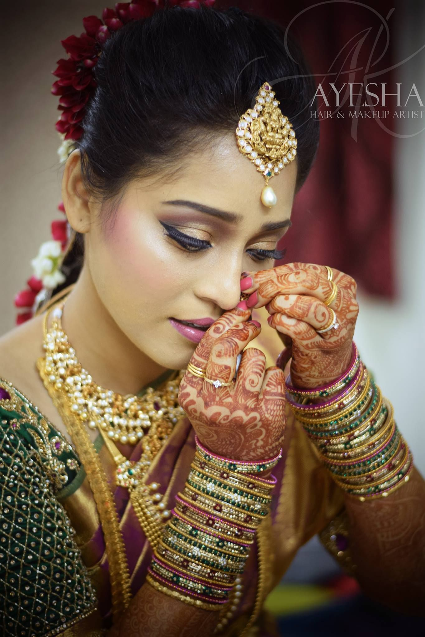 Wedding Day South Indian Wedding Makeup by Ayesha AK southindian