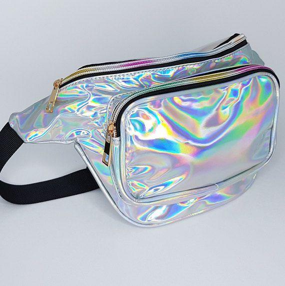 Riñonera holográfica AIREEBAY, bolsa de viaje para mujeres