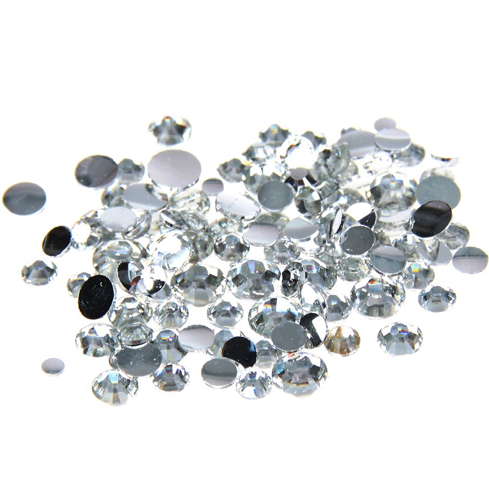 d91a7378f8 1000pcs 2-5mm And Mixed Sizes Crystal Resin Rhinestones Non Hotfix ...