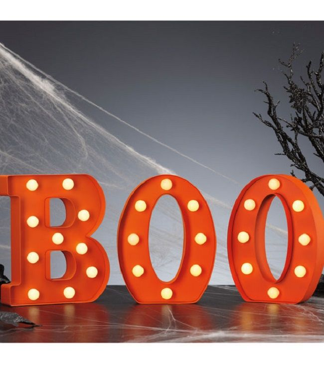 Spell Out The Spookiness This Halloween Season With The Boo Marquee Letters Standing 8 9 Inches Halloween Spooktacular Halloween Decorations Halloween Season