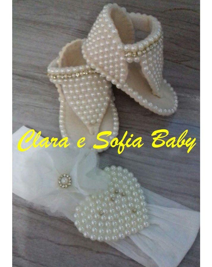 Como fazer chinelo em feltro feito a mão para bebês de colo ... 7f8a98b6005