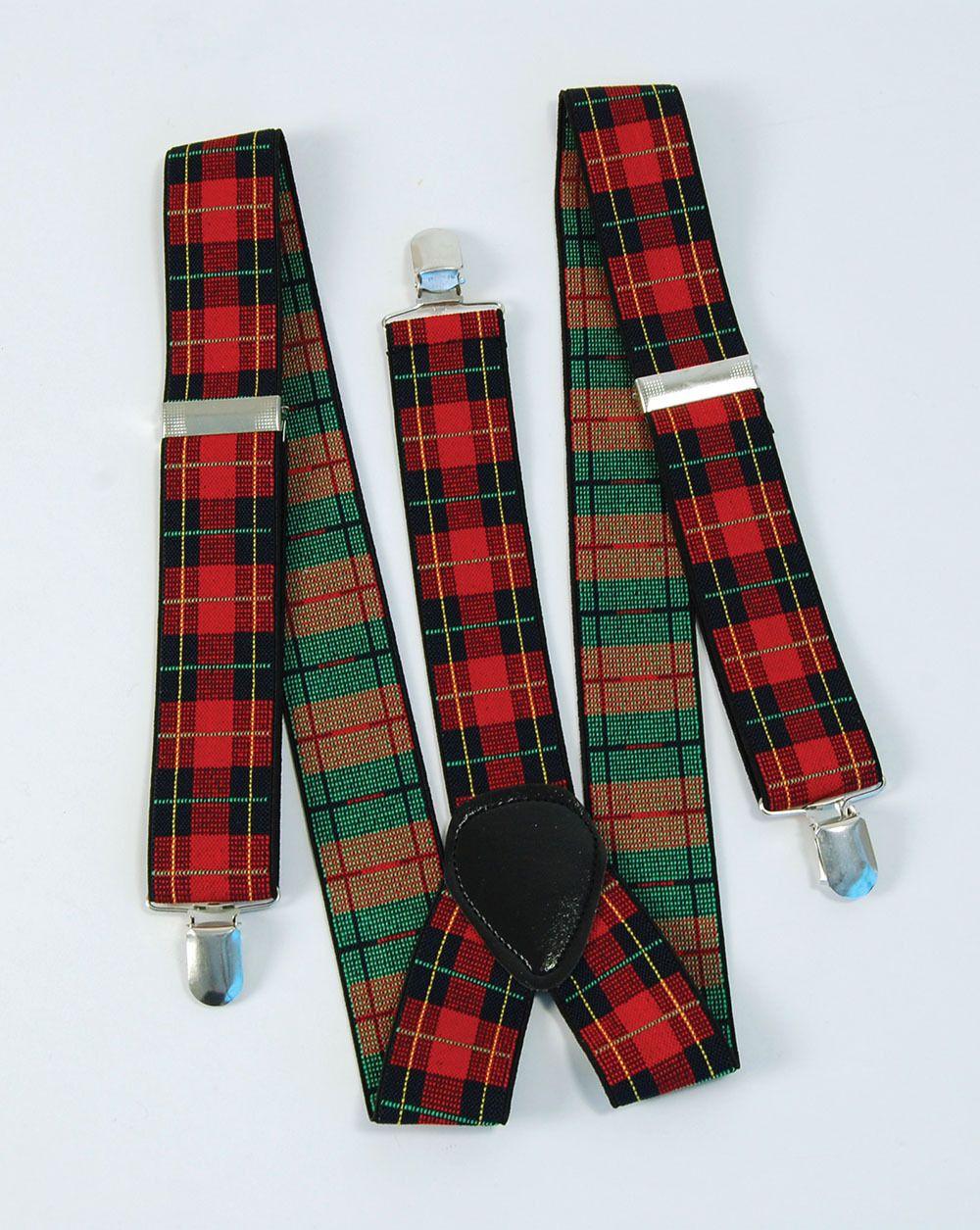 Tartan Punk Brace Scottish Goth EMO Bay City Roller Braces fancy Dress Accessory