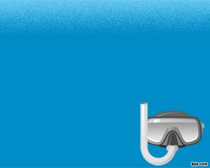 Free Scuba Diving Powerpoint Template With Blue Background  Sport