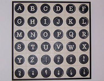 Typewriter Key Art