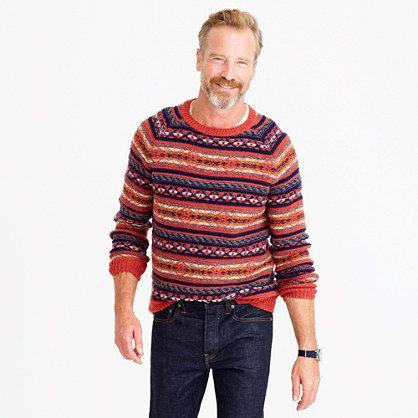 Lambswool Fair Isle sweater in heather rust | lookbook | Pinterest