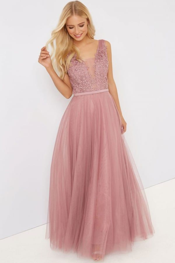 Little Mistress Blush Applique Maxi | Dresses | Pinterest