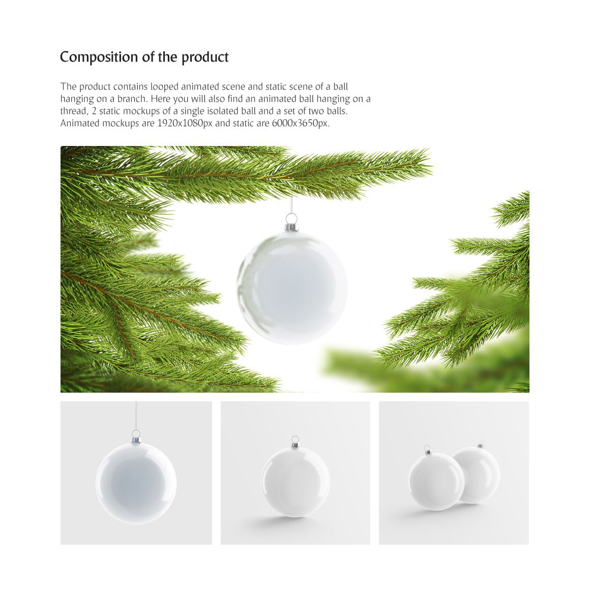 Christmas Ball Animated Product Mockup 74174 Stationery Mockup Animation Types Colorful Backgrounds