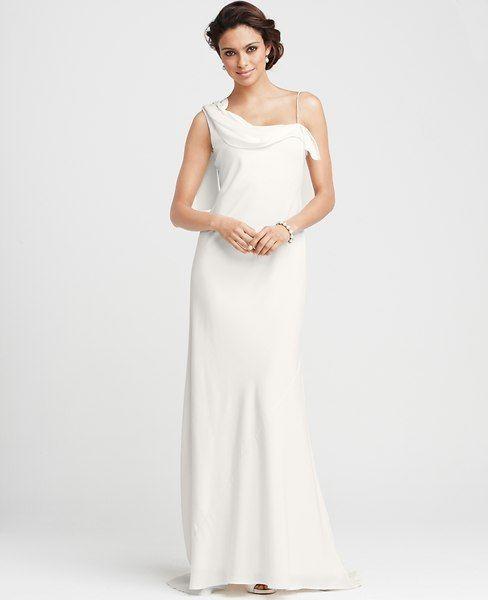 Ann Taylor Carolyn One Shoulder Gown On Shopstyle Com Wedding