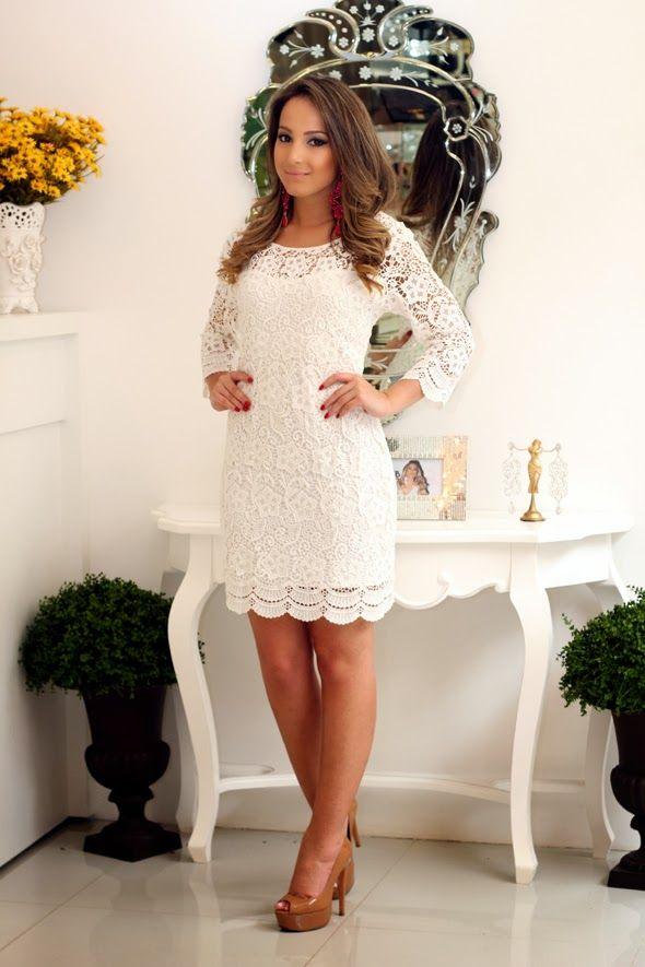 Cheia de frescura pinteres for Robes blanches simples pour le mariage de palais de justice