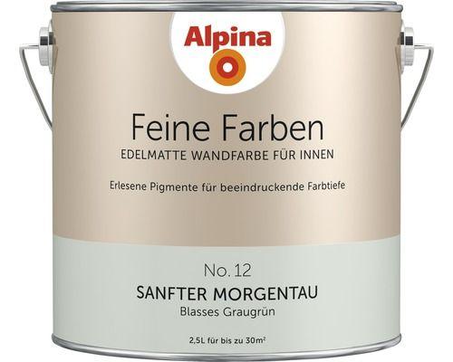 Alpina Wandfarbe Feine Farben Sanfter Morgentau 2 5 L Home Wall