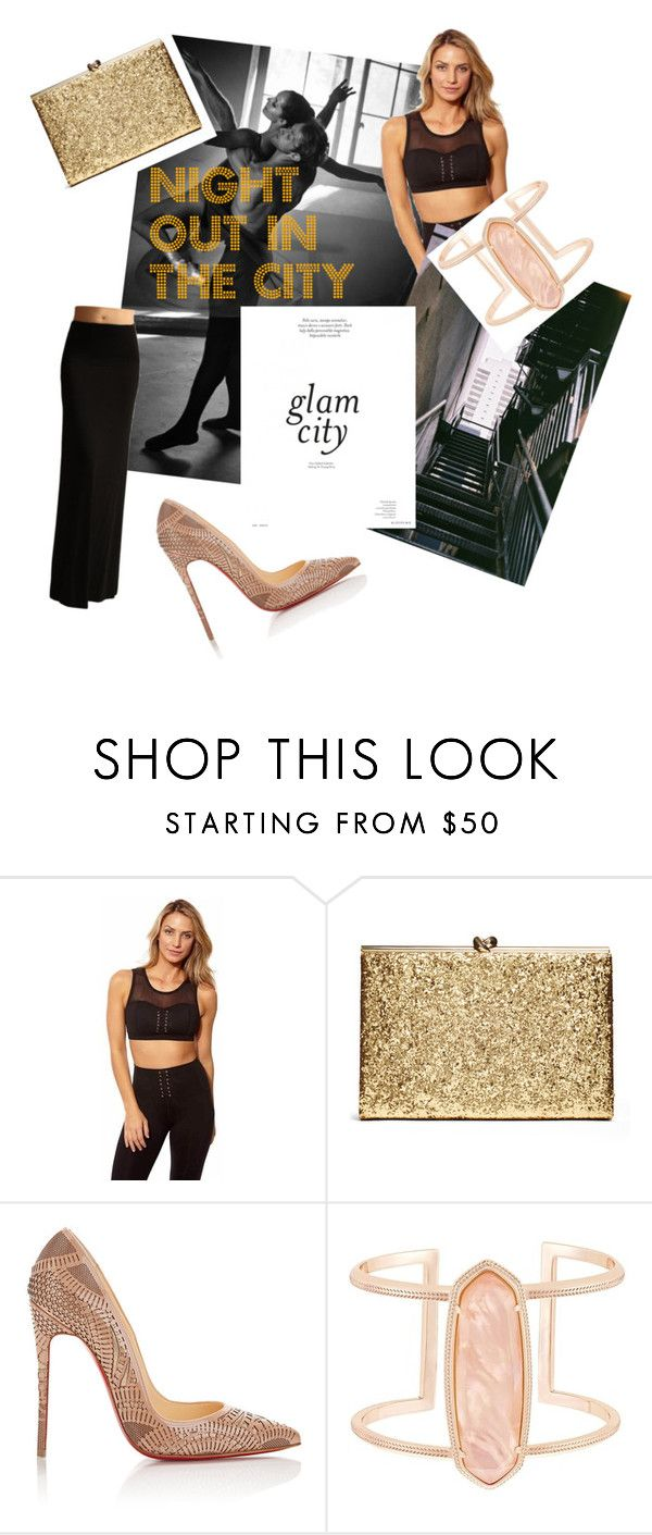 """Night out in the city"" by sweatinstyle on Polyvore featuring Christian Louboutin, Kendra Scott, athleisure and fitchick"