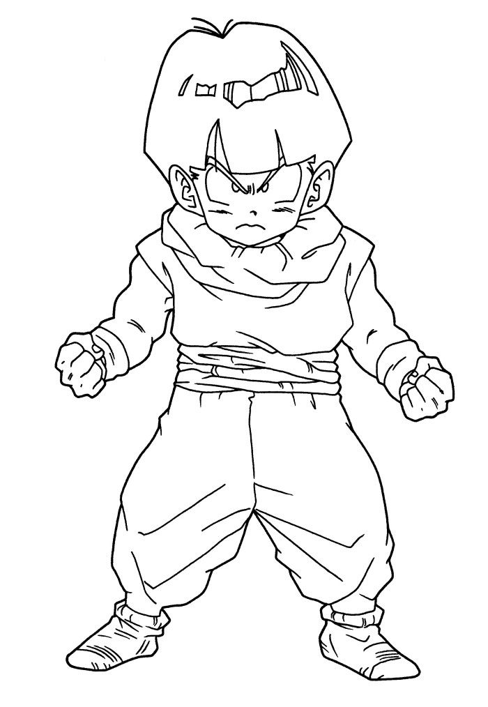 Dragon Ball Gohan Coloring Pages