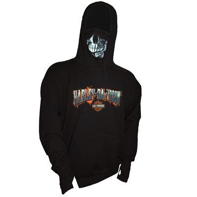 harley-davidson men's skull mask pullover hoodie | harley davidson