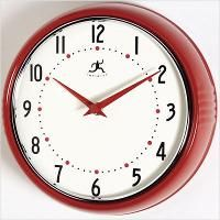 Infinity Instruments The Retro-Red Clock (10940Red)