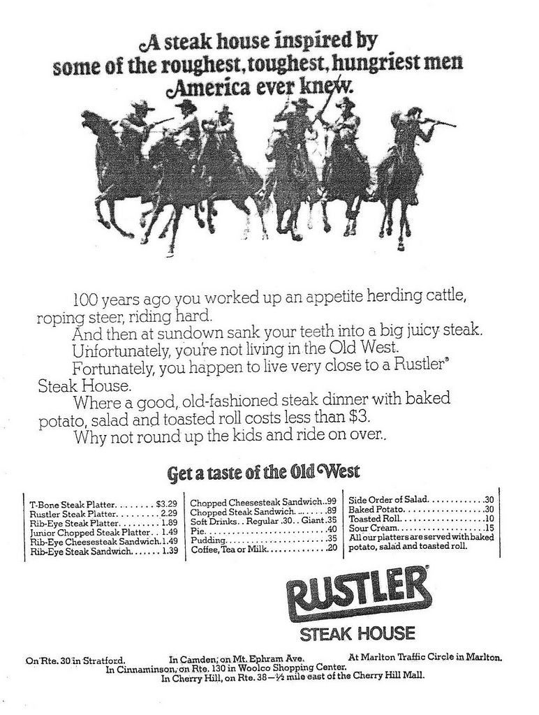I remember Rustler Steak House long before Ponderosa, Bonanza, and ...