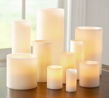 Pottery Barn Flameless Candles Cool Flameless Candles Are Great For Outsideyou Can Set The Time So