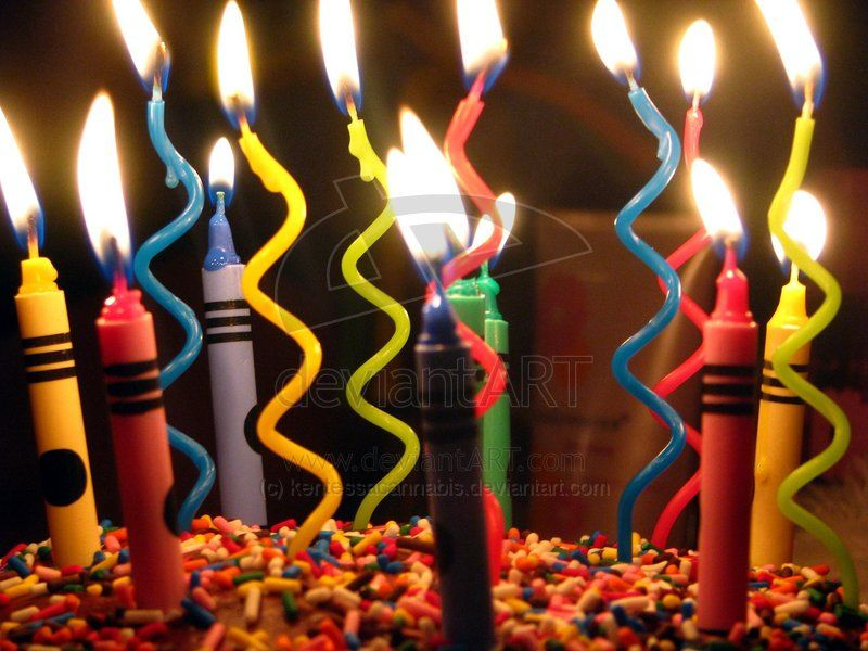 Squiggly Candles & Crayon Candles