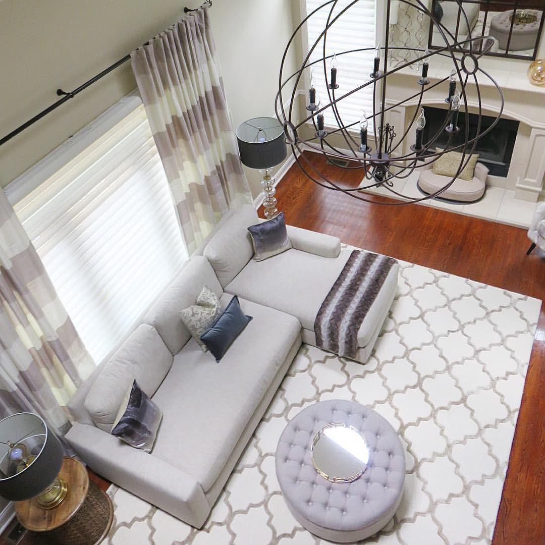 DOWNS INTERIORS on Instagram: 2 story family room design @homegoods ...